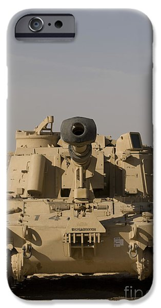 Iraq iPhone Cases - M109 Paladin, A Self-propelled 155mm iPhone Case by Terry Moore