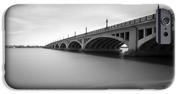 Stopper iPhone Cases - MacArthur Bridge To Belle Isle Detroit Michigan iPhone Case by Gordon Dean II