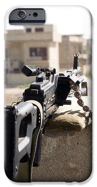 Machine Gun Post At A Prison iPhone Case by Terry Moore
