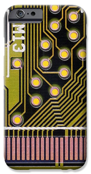 Macrophotograph Of A Circuit Board iPhone Case by Dr Jeremy Burgess