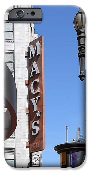 Stockton iPhone Cases - Macys Department Store in San Francisco iPhone Case by Wingsdomain Art and Photography