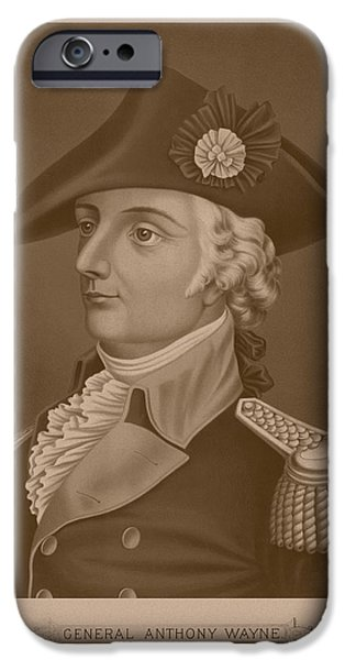 American Revolution iPhone Cases - Mad Anthony Wayne iPhone Case by War Is Hell Store