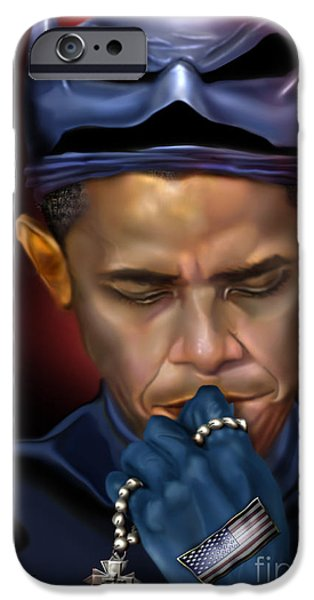 Mad Men Series 1 of 6 - President Obama The Dark Knight iPhone Case by Reggie Duffie