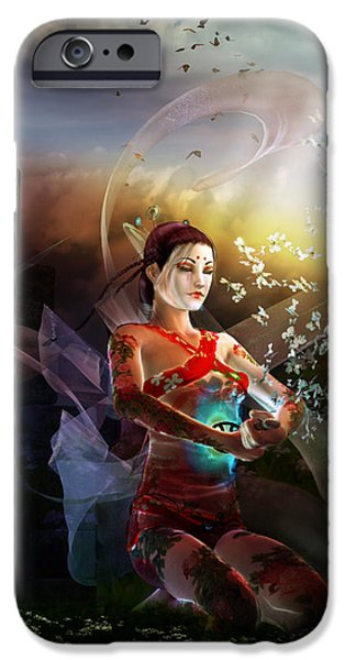 Madame Butterfly iPhone Case by Karen H