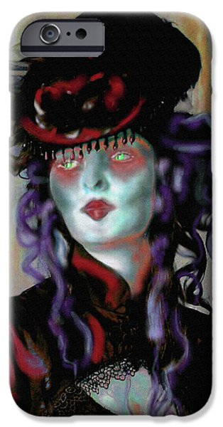 Countess iPhone Cases - Madame la Comtesse iPhone Case by Mimulux patricia no