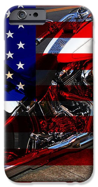 Made In The USA . Harley-Davidson . 7D12757 iPhone Case by Wingsdomain Art and Photography