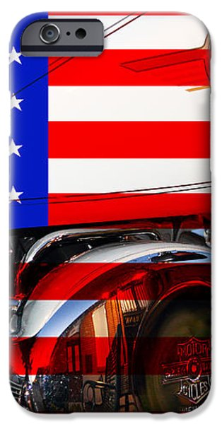 Made In The USA . Harley-Davidson . 7D12759 iPhone Case by Wingsdomain Art and Photography