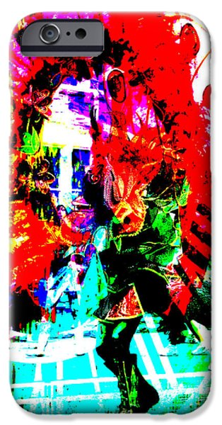 Abstract Digital Art iPhone Cases - Madi Gras iPhone Case by Brian Roscorla