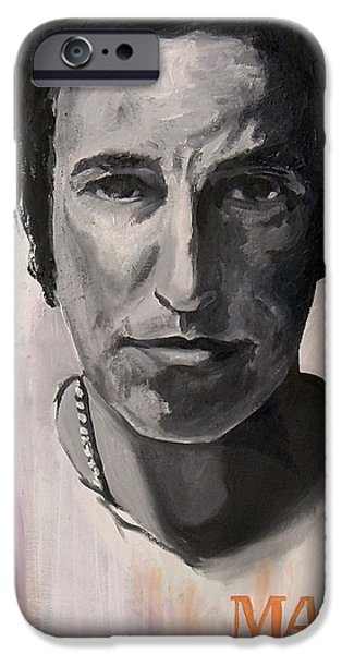 Bruce Springsteen Paintings iPhone Cases - Magic - Bruce Springsteen iPhone Case by Khairzul MG