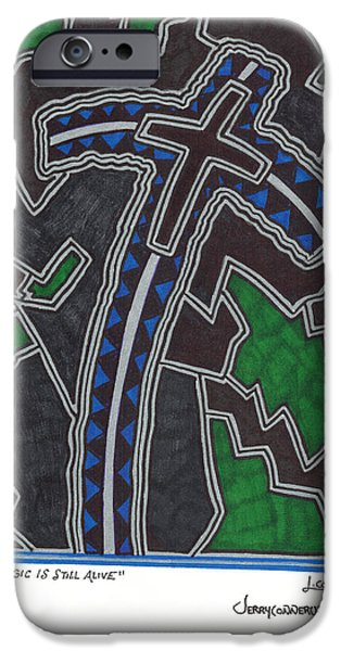 Abstract Seascape iPhone Cases - Magic Is Still Alive iPhone Case by Jerry Conner