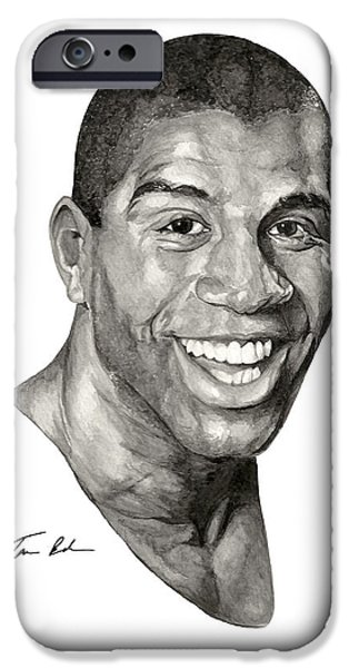 Magic Johnson iPhone Cases - Magic iPhone Case by Tamir Barkan