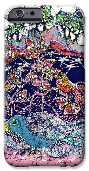 Dark Skies Tapestries - Textiles iPhone Cases - Magical Birds iPhone Case by Carol  Law Conklin