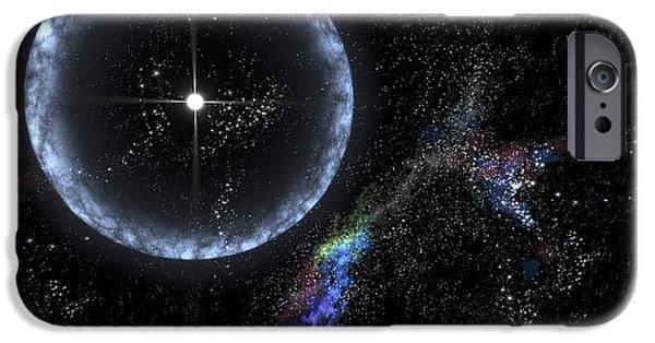 Gamma Ray Burst iPhone Cases - Magnetar Star Sgr 1806-20, Artwork iPhone Case by Nasa