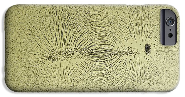Solenoid iPhone Cases - Magnetic Field Of A Wire Around A Nail iPhone Case by Andrew Lambert Photography