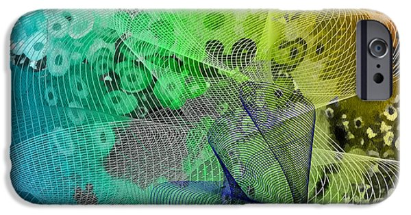Abstract Digital Mixed Media iPhone Cases - Magnification 5 iPhone Case by Angelina Vick