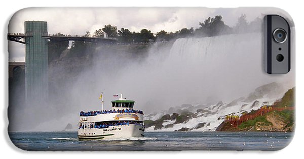 Best Sellers -  - Beauty Mark iPhone Cases - Maid of the Mist at Niagara Falls iPhone Case by Mark J Seefeldt