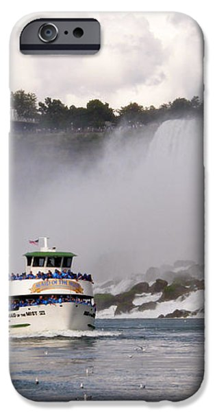 Maid of the Mist at Niagara Falls iPhone Case by Mark J Seefeldt