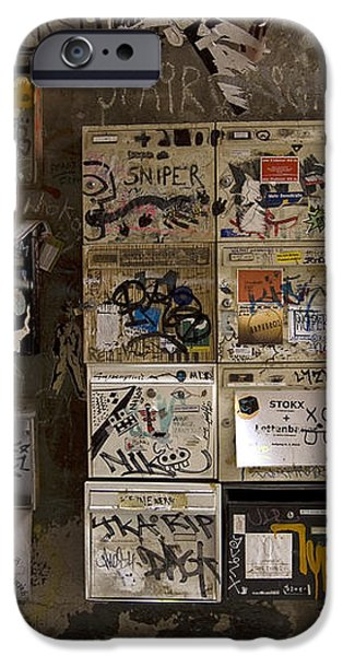 Mailboxes with graffiti iPhone Case by RicardMN Photography
