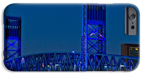 St. Johns River iPhone Cases - Main Street Bridge Jacksonville iPhone Case by Debra and Dave Vanderlaan