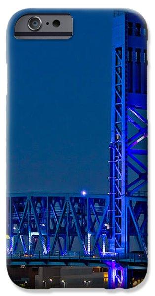 Main Street Bridge Jacksonville iPhone Case by Debra and Dave Vanderlaan
