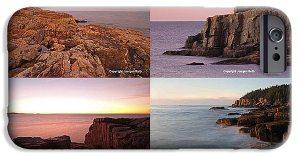 Seacoast iPhone Cases - Maine Acadia National Park Seacoast Photography iPhone Case by Juergen Roth