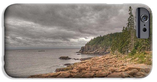 Maine iPhone Cases - Maine Coastline. Acadia National Park iPhone Case by Juli Scalzi