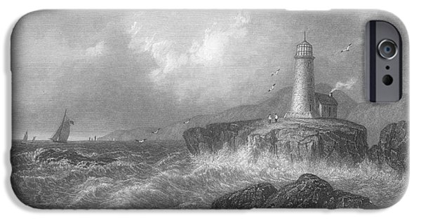 1839 iPhone Cases - Maine: Lighthouse, 1839 iPhone Case by Granger