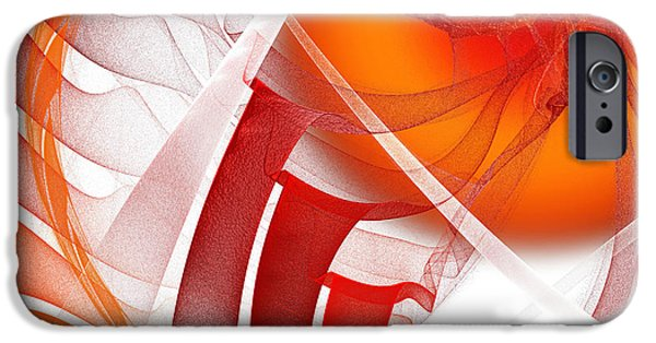 Fine Art Fractal iPhone Cases - Majestic Motion White iPhone Case by Andee Design