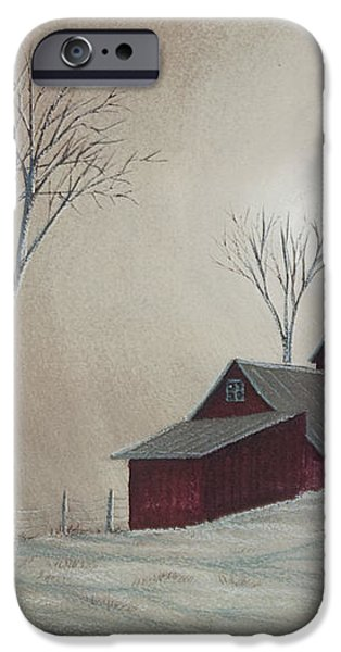 Majestic Winter Night iPhone Case by Charlotte Blanchard