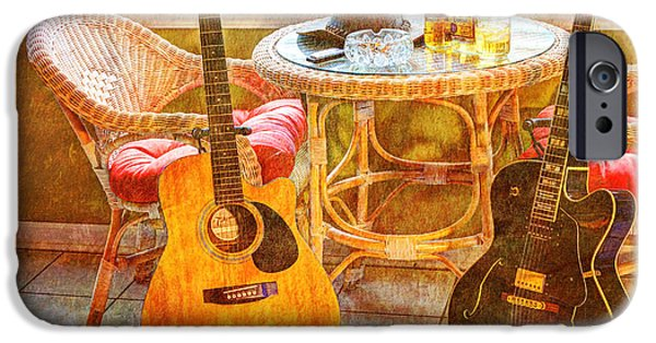 Acoustical Digital Art iPhone Cases - Making Music 005 iPhone Case by Barry Jones