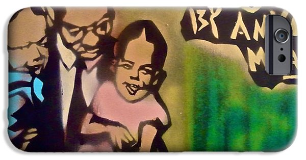 Obama Family iPhone Cases - Malcolm X Fatherhood 1 iPhone Case by Tony B Conscious