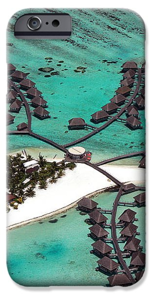 Maldives aerial iPhone Case by Jane Rix