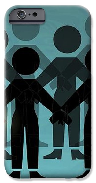 Male Dominated Society, Artwork iPhone Case by Christian Darkin