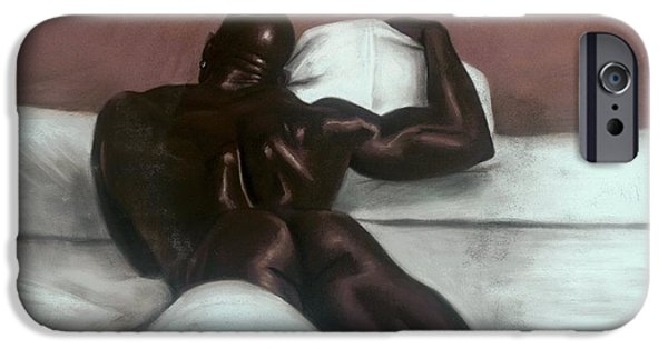 Original Pastels iPhone Cases - Male Nude iPhone Case by L Cooper