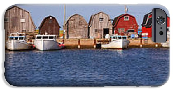 Shed iPhone Cases - Malpeque Harbour Panorama iPhone Case by Louise Heusinkveld