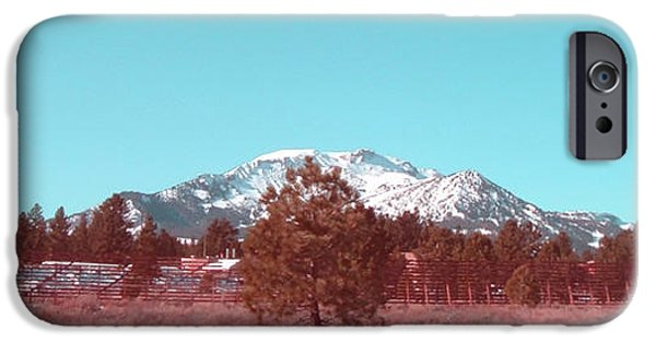 Snow iPhone Cases - Mammoth Mountain iPhone Case by Naxart Studio