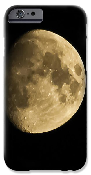 MAN IN THE MOON iPhone Case by Joshua Dwyer