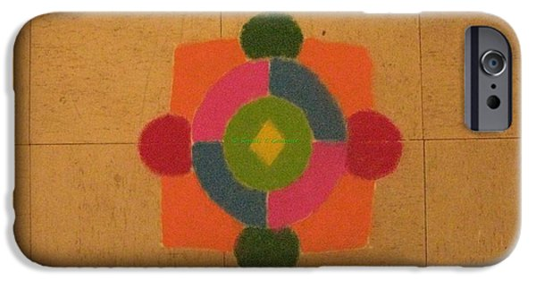 Mandal iPhone Cases - Mandal rangoli iPhone Case by Sonali Gangane