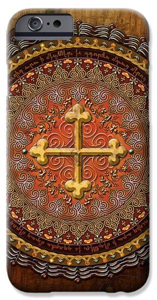Mandala Armenian Cross iPhone Case by Bedros Awak