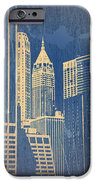 Capital iPhone Cases - Manhattan 1 iPhone Case by Naxart Studio