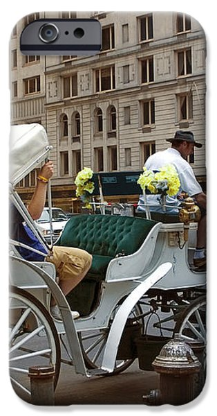 Manhattan Buggy Ride iPhone Case by Madeline Ellis