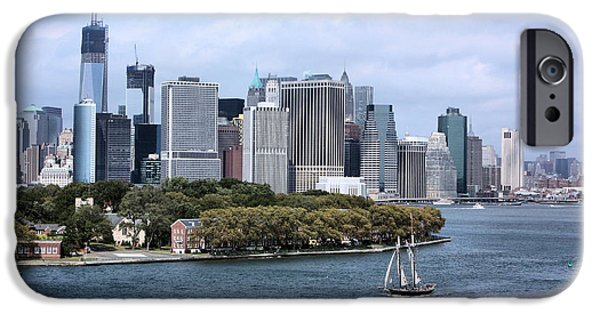 Twin Towers Nyc iPhone Cases - Manhattan Island iPhone Case by Kristin Elmquist