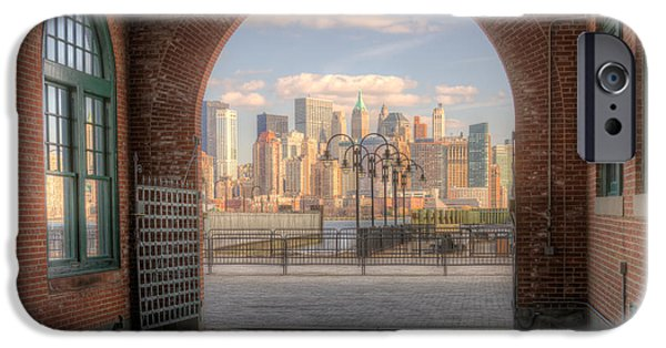 Recently Sold -  - Empire State iPhone Cases - Manhattan Skyline from CRRNJ Terminal I iPhone Case by Clarence Holmes