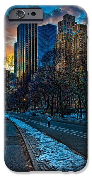 Manhattan Sunset iPhone Case by Chris Lord