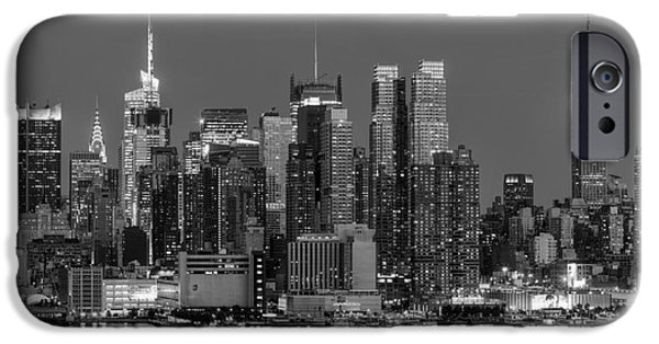Hudson River Photographs iPhone Cases - Manhattan Twilight IV iPhone Case by Clarence Holmes