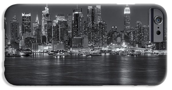 Nast iPhone Cases - Manhattan Twilight VII iPhone Case by Clarence Holmes