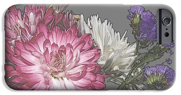 Nature Abstract iPhone Cases - Manipulated Beauties iPhone Case by Kim Galluzzo Wozniak