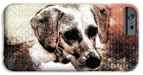 Puppy Digital Art iPhone Cases - Mans Best Freind iPhone Case by Bill Cannon