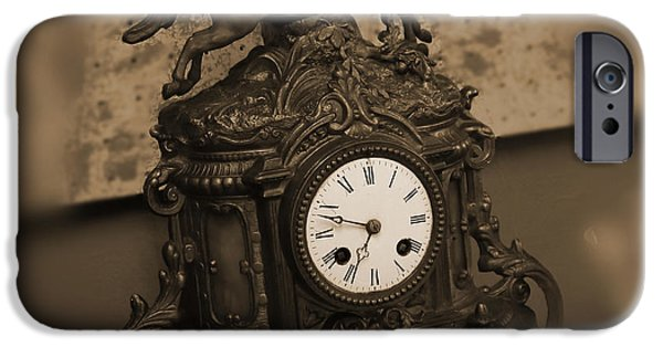 Desk iPhone Cases - Mantel Clock iPhone Case by Mike McGlothlen