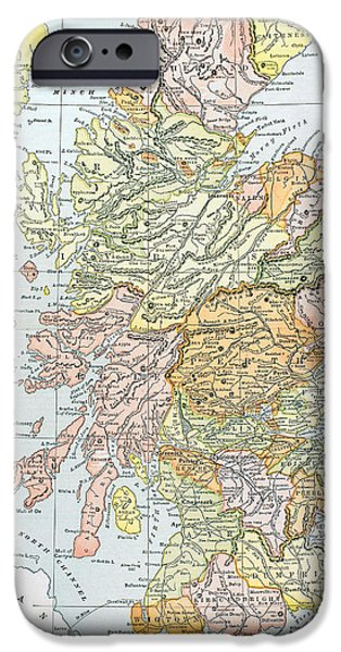 19th Century iPhone Cases - Map: Scotland iPhone Case by Granger